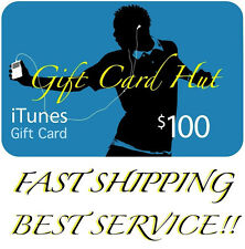 Apple $100 iTunes US Gift Card Code Key Voucher Certificate USA Dollar * FAST *