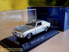 1:43 Minichamps 1969 Ford Capri. 100 Years of Ford Heart & Soul