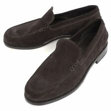 Mens BRIONI Brown Suede Leather Slip-On Loafers Shoes  9 1/2 US NIB $895