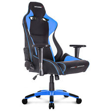 AK Racing ProX Black / Blue Padded PC Pro Gaming Chair ESports Fully Adjustable