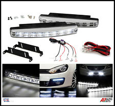 POWERFUL LED DRL DAYTIME FOG RUNNING LIGHTS 158MM & RELAY DIMMER HARNESS