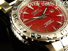 Invicta Men's 47mm Ocean Ghost Diver Red Dial Silver Tone Stainless Steel Watch