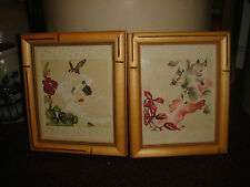 Superb Chinese Cut Paper Art-Squirrels & Rabbits-2 Pieces-Painted-LQQK
