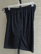 Woman Within Cotton Blend Jersey Knit  Elastic Waist  Shorts 2X 26-28W Black