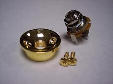 GOLD SOCKET STYLE JACK PLATE CUP & JACK FOR FENDER TELE Telecaster GUITAR