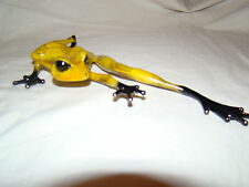"""Tim Cotterill - Frogman-"""" EURO YELLOW STRETCH""""--LOW EDITION NUMBER---BRONZE FROG"""