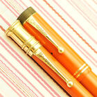 VINTAGE PARKER DUOFOLD SENIOR BIG RED LACQUER FOUNTAIN PEN PENCIL SET