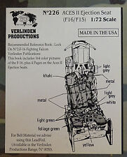 VERLINDEN PRODUCTIONS #0226 ACES II Ejection Seat for F-16/F-15 in 1:72