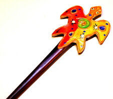 PIC/PIQUE A CHEVEUX BOIS ETHNIQUE WOODEN HAIR PIN STICK WOOD TORTUE TURTLE