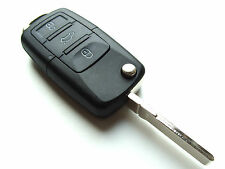 VW Beetle Touran 3 Button Flip Remote Key Fob Case + Blank HAA Blade