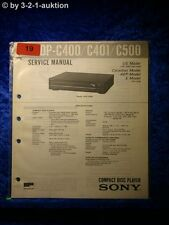 Sony Service Manual CDP C400 / C401 / C500 CD Player (#0019)