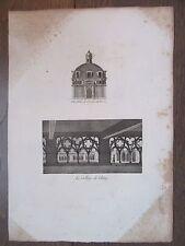 GRAVURE 1839 PARIS COLLÈGE DE CLUNY ET PAVILLON DE L'ECOLE DE DESSIN