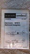 Aerodecal Model Kit Decals - 35 ABC Germany WW II National Insignias  (S 7)