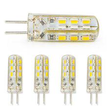 5x G4 3W Warm White DC 12V 3014 SMD Silicon LED Crystal Light Bulb Waterproof