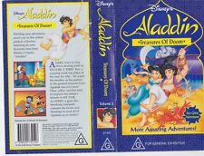 ALADDIN TREASURES OF DOOM  VHS VIDEO PAL~ A RARE FIND