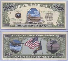 Commemorative United States Navy Bill with Protector One Million Dollars