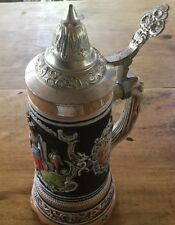 German Lidded Beer Stein  Windup  Music Box Western Germany Disney  EPCOT