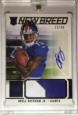 2014 Elite ODELL BECKHAM JR. New Breed Jersey Patch Auto Rookie RC 13/49 1/1 HOT