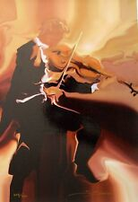 "STEVE BLOOM ""CLASSIC STUDY VIOLIN"" Hand Signed Limited Edition Giclee on Canvas"
