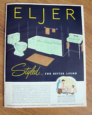 1953 Eljer Lavatories Ad Bathrooms Styled for Better Living