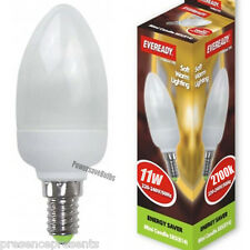 5 11w SES E14 Screw Cap Candle Warm White 2700k Energy Saving Eco Light Bulb