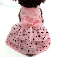 Summer Pet Puppy Dog Cat Clothes Dress Princess Skirt Apparel Costume Pink M