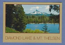 Vintage PC: Diamond Lake and Mt. Thielsen, Oregon. Morton Luman photo.