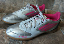 Womens Shoes Adidas F-50 Size 7 1/2 Indoor Soccer Shoes White Silver Pink Black