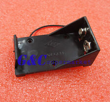 10PCS DC 9V Volt Battery Clip Holder Box Case w/ Wire Lead ON/OFF Switch Cover