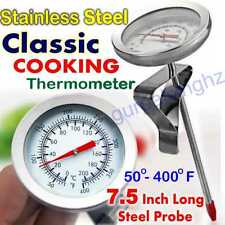 Kitchen Steel Thermometer BBQ Oven Pit Grill Cooking Long Probe Food Sensor Meat