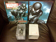 CLASSIC MARVEL FIGURINE COLLECTION 1 AM SPIDERMAN BLACK COSTUME FIGURE BOXED MAG