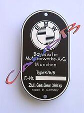 PLAQUE CONSTRUCTEUR  BMW  R75/5