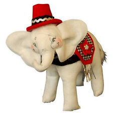 "CLASSY ELEPHANT Poseable 7"" Christmas Table Desk Top Decoration Annalee 2014 NEW"