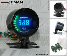 "EPMAN RACING 52mm 2"" DIGITAL ANALOG LED RPM TACHOMETER GAUGE METER"