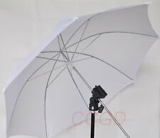 "Flash Light Stand Mount +33"" Silver Diffuser Umbrella + Screw Adapter"