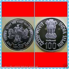 100 rs silver first war of independence coin in  brilliant unc condition