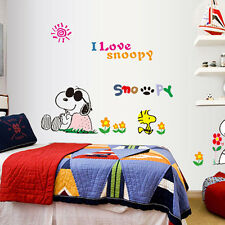 Snoopy Dog Removable Wall Decal Sticker Vinyl Baby Boy Kids Room Trucks