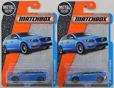 "2016 Matchbox: VOLVO V60 STATION WAGON ""Blue"" #8/125 - 2 Car LOT Set - NEW"