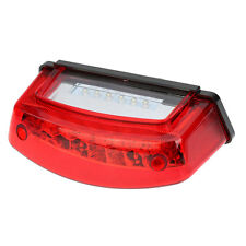 21 LED Motorcycle Tail Integrated Light with Red Lens LED Plate Mount Universal