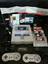 SUPER NINTENDO WITH 2 CONTROLLERS , ADAPTERS , 3 GAMES AND INSTRUCTION+MANUALS !