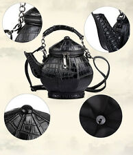 New Amliya Chinese Unique Teapot Tea Kettle Shape Handbag Women Purse Bag