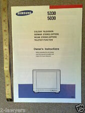 SAMSUNG 5330 5030 COLOUR TV OWNERS MANUAL * NICAM + TELETEXT + STEREO OPTIONS