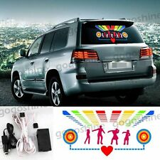 "20"" Car Music Rhythm Light LED Sticker Kit Sound Activated Equalizer 50x30CM"