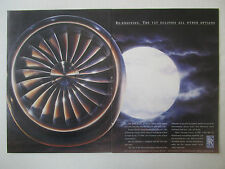 9/1991 PUB ROLLS-ROYCE TAY ENGINE ECLIPSE BOEING 727 BAC 1-11 ORIGINAL AD