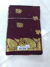 Brown peshwai Silk Saree Handloom Heavy paithaniSilkJari Work Grand Pallu Jari