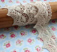 Vintage Style Crochet Cotton Lace 50 mm Scalloped Edge -  Natural Shade