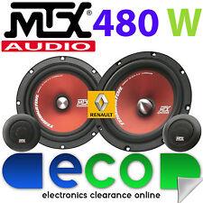 """Renault Megane Break MTX 6.5"""" 480 Watts Component Kit Front Door Car Speakers"""