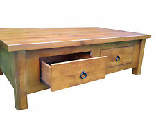 MELBA TIMBER COFFEE TABLE -  Solid Acacia, 2 Drawers 1200 long   RRP $799