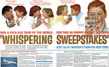 Norman Rockwell Skippy Peanut Butter PAN AM Sweepstakes 1963 Magazine Print Ad