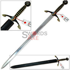 Knights Templar Royal European Longsword Replica - Stainless Steel Blade
